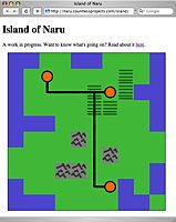 screenshot of island game